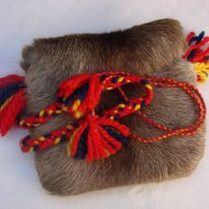 Geanta traditionala finlandeza din piele naturala de ren - Geanta handmade