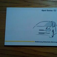 OPEL CORSA * Bedienung, Sicherheit, Wartung - manual de utilizare, 1997, 167 p.