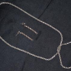 SET - ARGINT 925 - LANT(47cm) + BRATARA(18.5cm) + CERCEI - 35g. - Deosebit ! - Set bijuterii argint