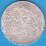 (4) MONEDA DIN ARGINT AUSTRIA - 100 SCHILLING 1977, HOHEN-SALZBURG, Europa