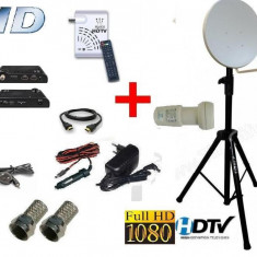 Antena tv HD auto, camping pentr Focus sat sau Freesat cu trepied