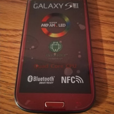 Samsung Galaxy S3 i9300 ROSU / NOU / LIVRARE CU VERIFICARE, 16GB, Alb, Neblocat