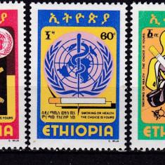 Etiopia  1980  Crucea rosie  antifumat  MI 1047-1049  MNH  w14