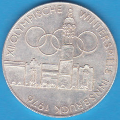 (8) MONEDA DIN ARGINT AUSTRIA - 100 SCHILLING 1976, JOCURILE OLIMPICE INNSBRUCK, Europa