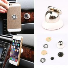 Suport telefon/gps/tableta- cu magnet SUPER PRET ABL/NEGRU - Suport auto