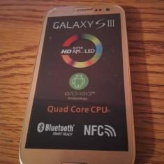 Samsung Galaxy S3 i9300 AURIU / NOU / LIVRARE CU VERIFICARE / FOLIE STICLA