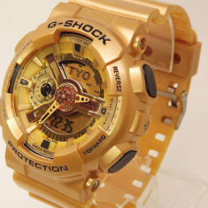 Ceas Sport CASIO G SHOCK GA110 Gold limited edition (Poze reale, Garantie) - Ceas barbatesc