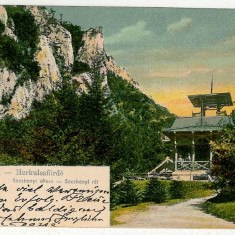 3208 - Banat, Baile HERCULANE, chioscul din parc - old postcard - used - 1906 - Carte Postala Banat 1904-1918, Circulata, Printata
