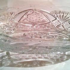 Fructiera veche din sticla presata - Fructiera sticla