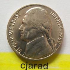 Moneda 5 Centi - SUA 1982 *cod 1490 a.UNC, America de Nord