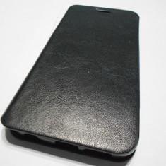 Husa Samsung Galaxy S6 Edge G925F TPU Ultra Thin book - Husa Telefon, Negru, Piele, Cu clapeta
