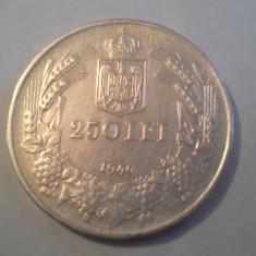 250 LEI 1940 SPLENDIDA FOARTE FRUMOASA/2 - Moneda Romania