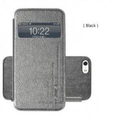 Husa Flip Usams Starry Sky Apple iPhone 4 Neagra - Husa Telefon Oem, iPhone 4/4S, Piele Ecologica, Cu clapeta