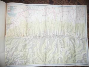 Mapa cu 8 Harti mari Automobilistice si Turistice , pliate- ONT Carpati RPR
