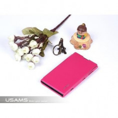 Husa flip Usams Starry Sky Series Nokia Lumia 1020 Roz, Piele Ecologica, Cu clapeta, Oem