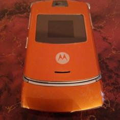 Telefon Motorola V3 PORTOCALIU / impecabile / MODEL DEOSEBIT, Rosu, Nu se aplica, Neblocat, Fara procesor