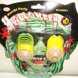 Set ochelari ochi cu arc si dinti vampir - Halloween petreceri carnaval