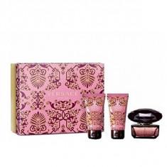 Versace Crystal Noir Set 50+50+50 pentru femei - Set parfum