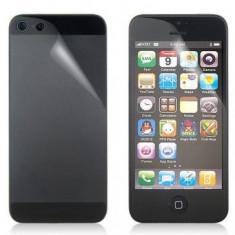 Folie protectie touchscreen si capac baterie Apple iPhone 5 Transparenta (Pachet - Folie de protectie Oem