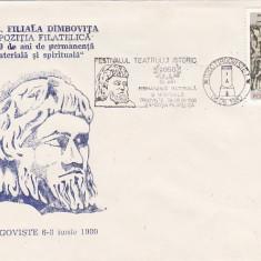 Bnk fil Plic ocazional - Expofil Targoviste 1980 - 2050 ani de permanenta ...