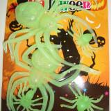 Set 6 paianjeni din silicon fosforescent glowing - Halloween petreceri carnaval