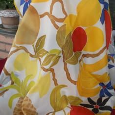 Batic spuma, model fructe exotice - Batic Dama, Culoare: Multicolor