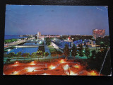 SEPT15-Vedere/Carte postala-Mamaia noaptea-vedere nocturna-circulata, Printata