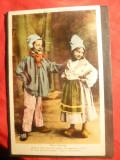 Ilustrata Costume Populare Normande - Copii, Circulata, Printata