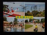 SEPT15-Vedere/Carte postala-Mamaia-Schi nautic pe lacul Mamaia-circulata, Printata