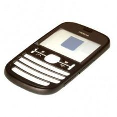 Carcasa Fata Nokia Asha 200 Neagra Mat