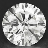DIAMANT NATURAL ALB-certificat de autenticitate-0,207ct.-3,72mm diametru-superb