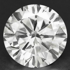 DIAMANT NATURAL ALB-certificat de autenticitate-0,207ct.-3,72mm diametru-superb, Briliant