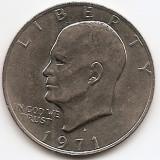 "Statele Unite (SUA) 1 Dolar 1971 - ""Eisenhower Dollar"", 38.1 mm, KM-203 (1), America de Nord"