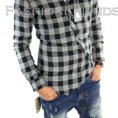 Camasa tip Zara bumbac - camasa carouri - camasa barbati - cod produs: 5353, Marime: XXL, Culoare: Din imagine, Maneca lunga