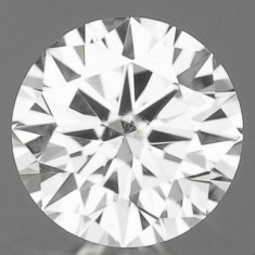 DIAMANT NATURAL ALB-certif. de autenticitate-0, 19ct.-3, 70 mm diam. clar-superb, Briliant