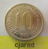 Moneda 10 Dinari - Yugoslavia 1988 *cod 1538 - A.UNC