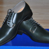 Charles Tyrwhitt UK Pantofi Eleganti Barbati VERDE Mat, Marime 39, 5/40 - Pantof barbat, Piele naturala