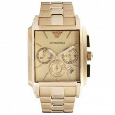 Ceas Emporio Armani AR0322 Gold - Ceas barbatesc Armani, Elegant, Quartz, Inox, Cronograf