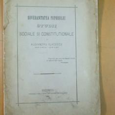 Al. Vladescu Suveranitatea poporului studii sociale si constitutionale 1876