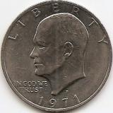 "Statele Unite (SUA) 1 Dolar 1971 - ""Eisenhower Dollar"", 38.1 mm, KM-203 (4), America de Nord"