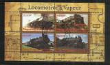 [ 20 ]  LOCOMOTIVE    -CONGO    - BLOC  STAMPILAT