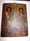 Icoana pictata pe lemn chirilica - secol 18 / Icoana veche pictata