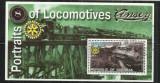 [ 15 ]  LOCOMOTIVE    - SOMALIA    - BLOC  STAMPILAT