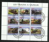 [ 34 ]  LOCOMOTIVE    -  REPUBLIQUE DE COTE D'IVOIRE      - BLOC  STAMPILAT