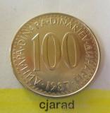 Moneda 100 Dinari - Yugoslavia 1987 *cod 1532, Europa