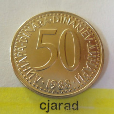 Moneda 50 Dinari - Yugoslavia 1988 *cod 1531