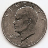 "Statele Unite (SUA) 1 Dolar 1971 - ""Eisenhower Dollar"", 38.1 mm, KM-203 (2), America de Nord"