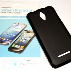 Husa Protectie Silicon Gel TPU Vodafone Smart 4 + Folie CADOU! - Husa Telefon Vodafone, Negru