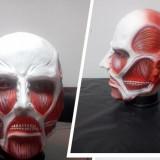 Masca latex Titan Shingeki petrecere tematica Halloween bal +CADOU! - Masca carnaval, Marime: Marime universala, Culoare: Din imagine