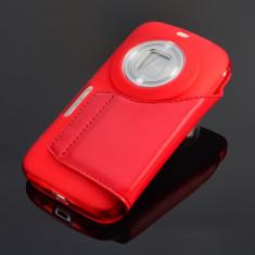 Husa PROFI rosie Samsung Galaxy K zoom S5 Zoom + folie ecran - Husa Telefon Samsung, Universala, Rosu, Silicon